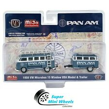 M2 Machines Auto-Haulers Vw Volkswagen Bus Deluxe with trailer Pan Am 1:64
