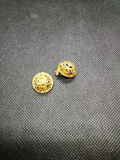 Wunderschöne Ohr Clips Ohrclips  Ohrringe Jugendstil Art Deco gold farben 2 cm