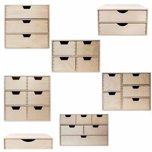 Creative Deco Schubladen-Box aus Holz | Regal Minikommode für Kleinigkeiten