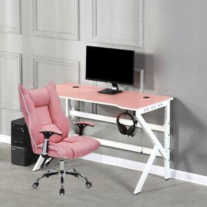 Home Office Computer Desk and Chair Set Workstation Laptop Writing Table Study