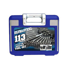 Mechanics Tool Set 113-pcs Box Wrenches Sockets Ratchet Handle Metric Ultra Kit