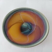 Phoenician Hebron Blowing Glass Handmade Blown Art Vase Plant Plate Decor Swirl