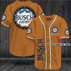 Beer Busch Ljght Dart Board Custom Name All Printed Baseball Jersey