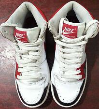 Nike Dunk Scarpe Da Ginnastica Da Donna Court Force Hi Bianco Rosso Nero Taglia 4.5 UK 316117-161