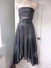 Pinko Black Split Front Strapless Evening Dress UK 8