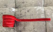 3 Metre Velvet Ribbon Red