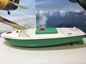 Sutcliffe clockwork tinplate HAWK speed boat No Key/box Excellent Condition