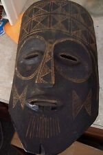 "Unique 18"" Hand Carved African Tribal Wooden Mask  Art"