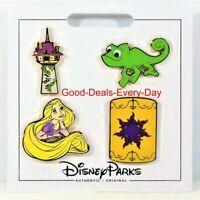 Disney Parks Tangled Rapunzel Pascal Tower Lantern 4 Pin Mini Booster Set (NEW)