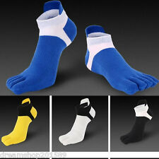 6 Pairs Men's five finger toe Breathe Socks Cotton Ankle Casual Sports Low Cut