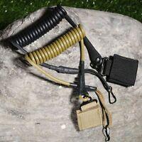 Black/Khaki Tactical Pistol Hand Gun Sling Elastic Military Spring With Belt