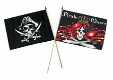 "12x18 12""x18"" Wholesale Combo Pirate Deadman's & Queen Pirate Stick Flag"