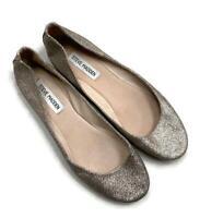 Steve Madden Ballet Flats Slip On Shoes Gold Glitter Size 9