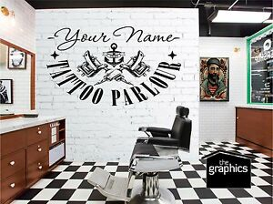 TATTOO SHOP STUDIO PARLOUR  SIGN DISPLAY - WALL ART DECAL GRAPHIC ANCHOR
