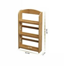 Bamboo 3-tier Spice Rack Holds 15 Jars