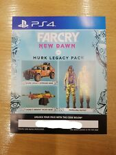 Far Cry New Dawn - Hurk Legacy Pack DLC PS4 Sony Playtation 4 code only NO GAME