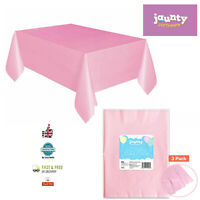 3PCK Pink Plastic TABLECOVERS TableCloth Cover Party Catering Events Tableware