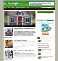 BUILD OUTDOOR PLAYHOUSE WEBSITE WITH UK AFFILIATES + FREE DOMAIN-FULLY STOCKED