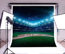 Baseball Field Night View Photography Backgrounds 6x6ft Sports Theme Backdrops