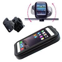 Safety Motorcycle Bike Handlebar Holder Mount Waterproof Bag Case For GPS Phone