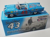 RICHARD PETTY 1/24  #43 1957 OLDS CONVERTIBLE DIECAST - THE KING'S 1ST RACE CAR