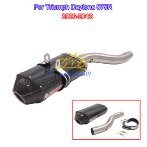 For Triumph Daytona 675R 2006-2012 Exhaust End Pipe Muffler Mid Tube Connector