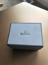 Men's Bulova Silver Crystal Watch 96C108. Comes with links and original box