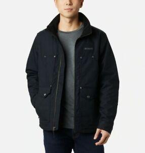Columbia mens Loma Vista flannel lined black workwear Jacket size 4X retail $210