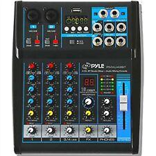 Pyle Professional Audio Mixer Sound Board Console System Pmxu43Bt