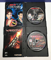 2 Game Lot: Resident Evil: Code: Veronica & Outbreak (Sony Playstation 2) DISCS
