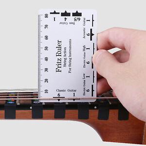 Guitar Neck Ruler Accurate Portable String Action Ruler Gauge Guitar Supplies