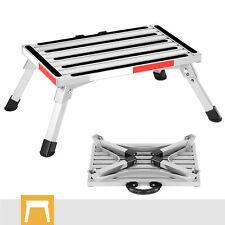 Folding Aluminum Platform Rv Step Stool Trailer Camper Working Ladder Withhandle