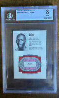 1984 Michael Jordan Chicago Bulls Star Pocket Schedule BGS 8