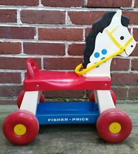 VINTAGE FISHER-PRICE  RIDING HORSE PULL TOY #978  1976