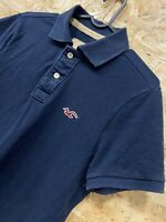 Mens HOLLISTER Polo T-Shirt Navy Blue Cotton Size Small