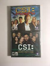 PC CD-ROM Game Lot CSI: Miami Dark Motives Windows 98/ME/2000/XP Crime Jewel
