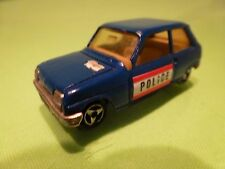 MAJORETTE 257  RENAULT 5 - POLICE - BLUE 1:55 - GOOD REPAINTED CONDITION