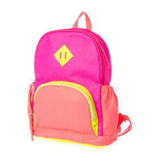 Claire's Backpack Neon Pink Yellow Orange Bookbag Back to School Multi Color