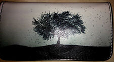 TREE ROLLING TOBACCO POUCH CASE WALLET WHITE BLOWING IN THE WIND WINTER FALL