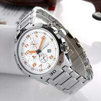 CURREN Casual Men Watch Quartz Analog Calendar Date Waterproof Steel Wristwatch