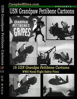 16 Navy film cartoons WW2 Grandpaw Pettibone Crashes Flight Saftey Weather