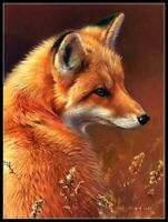 Red Fox - Chart Counted Cross Stitch Pattern Needlework Xstitch craft DIY DMC