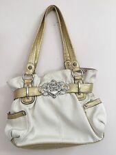 Kathy Van Zeeland Cream Gold Sparkle Purse hand bag