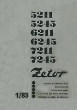 Zetor Ersatzteilliste 5211, 5245, 6211, 6245, 7211 und 7245