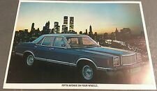 1978 1979 MERCURY MONARCH GHIA Saloon - UK COLOUR LEAFLET BROCHURE