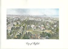 VINTAGE  PRINT OF EARLY PICTURESQUE AMERICA - 1874 - CITY OF BUFFALO