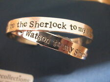 "You're the Sherlock to my Watson "" Watson to Sherlock"" bracelets sterling silver"