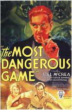 THE MOST DANGEROUS GAME Movie Promo POSTER C Joel McCrea Fay Wray Leslie Banks