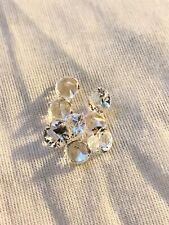 Lot De 8 Spinelles Blanches Taillées Main Format Diamant (7E)