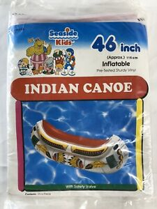 Intex The Wet Set Pool Canoe 59394 Indians Inflatable Ride On Toy 1991 Vintage